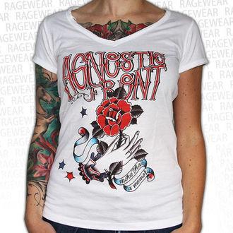 Damen T-Shirt Agnostic Front - Memory - White - RAGEWEAR, RAGEWEAR, Agnostic Front