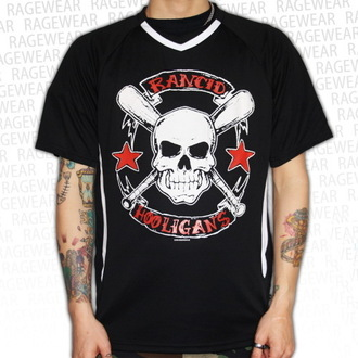 Herren T-Shirt (Trikot) Rancid - Hooligans Big Skull - Black - RAGEWEAR, RAGEWEAR, Rancid