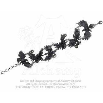 Armband Flocking Ravens - ALCHEMY GOTHIC, ALCHEMY GOTHIC