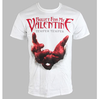 Herren T-Shirt   Bullet For My Valentine - Temper Temper Blood Hands - BRAVADO EU, ROCK OFF, Bullet For my Valentine