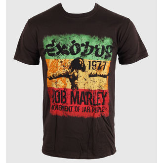 Herren T-Shirt   Bob Marley - Movement Dk - Brwn - BRAVADO EU, ROCK OFF, Bob Marley