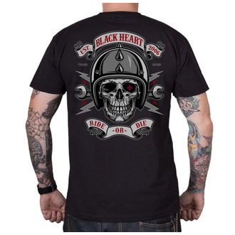 Herren T-Shirt Street - RIDE OR DIE - BLACK HEART, BLACK HEART