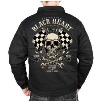Herren Jacke BLACK HEART - STARTER - SCHWARZ, BLACK HEART