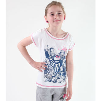Mädchen T-Shirt Monster High - White, TV MANIA, Monster High