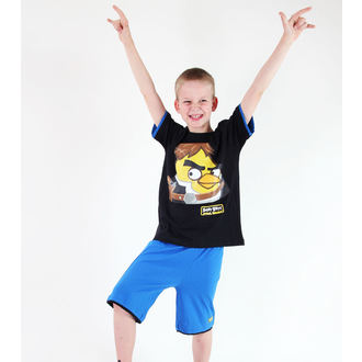 Set für Jungen ( T-Shirt + Shorts) TV MANIA - Angry Birds - Black, TV MANIA