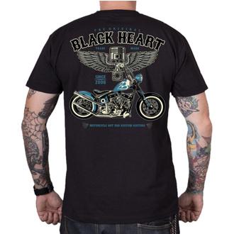 Herren T-Shirt Street - BLUE CHOPPER - BLACK HEART, BLACK HEART