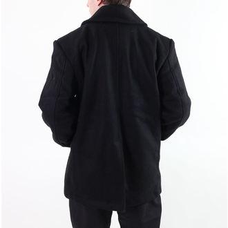 Männer Mantel ROTHCO - PEA COAT - BLACK, ROTHCO