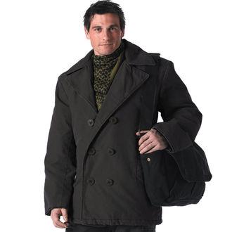 Herren Mantel ROTHCO - PEA COAT - BLACK, ROTHCO