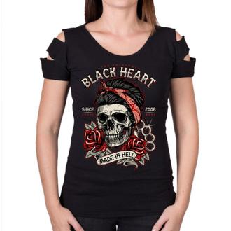 Damen T-Shirt Street - JENY DESTROY - BLACK HEART, BLACK HEART