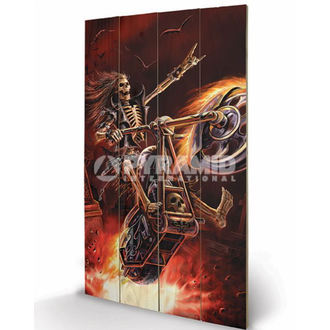 Holzbild  Anne Stokes - Hellrider - PYRAMID POSTERS, ANNE STOKES