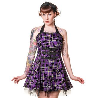 Damen Kleid BANNED  - Purple Tartan, BANNED