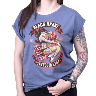 Damen T-Shirt Street - TATTOED LADY EXT - BLACK HEART, BLACK HEART