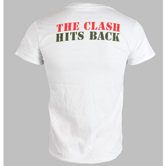 Herren T-Shirt   THE CLASH - HITS BACK JUMBO - WEISS - LIVE NATION, LIVE NATION, Clash