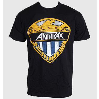 Herren T-Shirt   Anthrax - Eagle Shield - Black - ROCK OFF, ROCK OFF, Anthrax