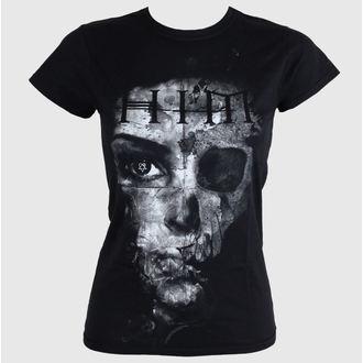 Damen T-Shirt  - HIM Woman B&W - Black - ROCK OFF, ROCK OFF, Him