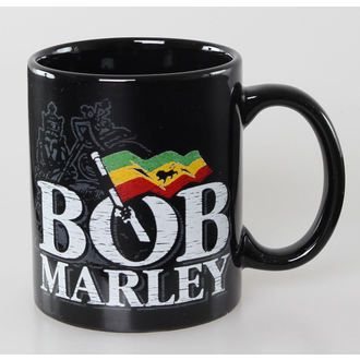 Keramiktasse Bob Marley - Distressed Logo - Black - ROCK OFF, ROCK OFF, Bob Marley