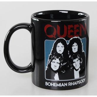 Keramiktasse Queen - Bo Rhap - Black - ROCK OFF, ROCK OFF, Queen