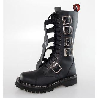 Lederstiefel/Boots KMM 14 Loch - 5P - Black, KMM