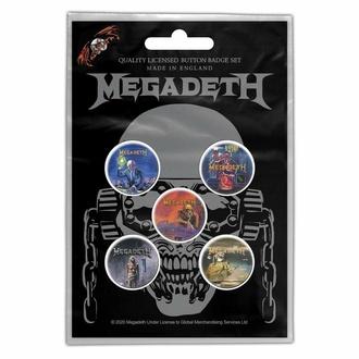 Abzeichen MEGADETH - VIC RATTLEHEAD, RAZAMATAZ, Megadeth