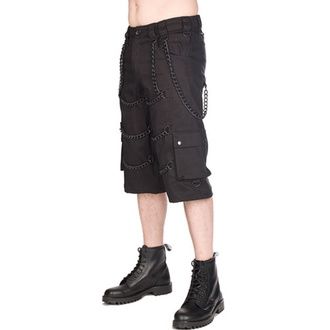 Herren Shorts BLACK PISTOL - Chain - Denim Schwarz, BLACK PISTOL