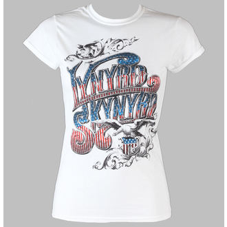 Damen T-Shirt Lynyrd Skynyrd - USA Flag Logo - LIVE NATION - White, LIVE NATION, Lynyrd Skynyrd