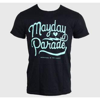 Herren T-Shirt MAYDAY PARADE - SCRIPT -BLACK - LIVE NATION, LIVE NATION, Mayday Parade