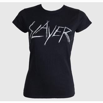 Damen T-Shirt Slayer - Scratchy Logo - ROCK OFF - SLAYTEE23LB