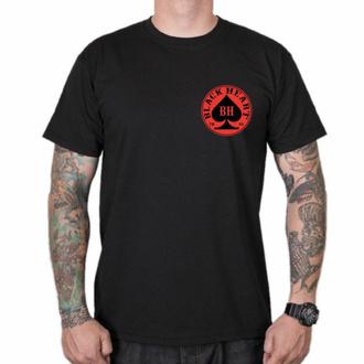 Herren T-Shirt BLACK HEART - ACE - SCHWARZ, BLACK HEART