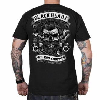 Herren T-Shirt BLACK HEART - RESPECT TRADITION - SCHWARZ, BLACK HEART