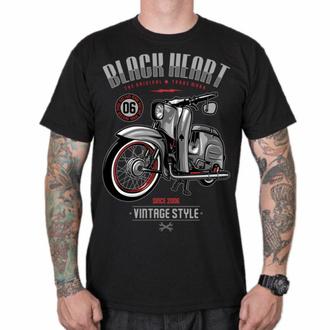 Herren T-Shirt BLACK HEART - VINTAGE STYLE, BLACK HEART