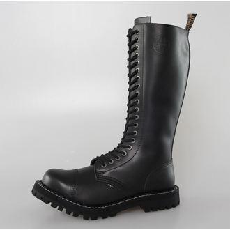 Lederstiefel/Boots STEEL - 20 Loch - Black