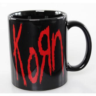 Keramiktasse Korn - Logo - ROCK OFF, ROCK OFF, Korn