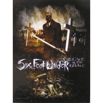 Fahne Six Feet Under - Decade In The Grave, HEART ROCK, Six Feet Under