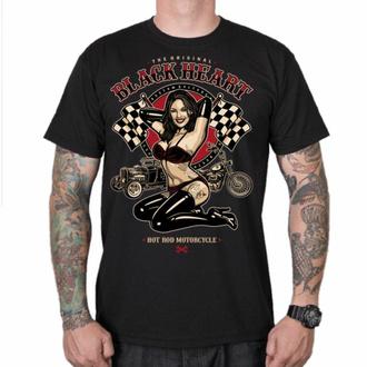 Herren T-Shirt BLACK HEART - PIN UP RACE - SCHWARZ, BLACK HEART