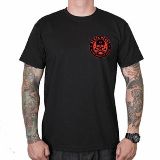 Herren T-Shirt BLACK HEART - RED SKULL - SCHWARZ, BLACK HEART
