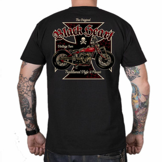 Herren T-Shirt BLACK HEART - VINTAGE IRON - SCHWARZ, BLACK HEART