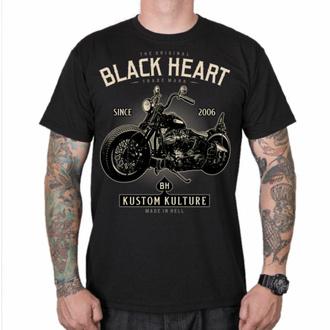 Herren T-Shirt BLACK HEART - MOTOR CYCLE - SCHWARZ, BLACK HEART