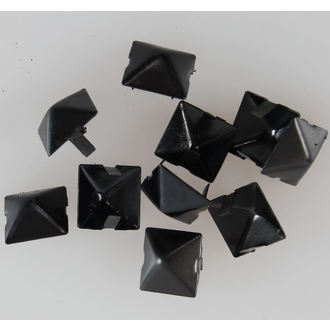 Metalll Nieten Pyramiden BLACK - 10 Stk. - CW-076