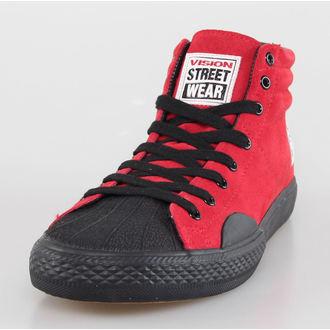 Herren Schuhe VISION - Suede HI - Red/Black, VISION