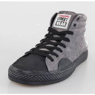 Herren Schuhe VISION - Suede HI - Charcoal/Black, VISION