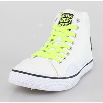 Damen Schuhe VISION - Canvas HI - Weiß / Sicherheit Yellow, VISION