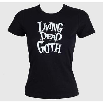 Damen T-Shirt  Living Death Goth - Black, BAT ATTACK