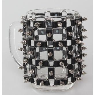Halbliterglas SPIKES, Leather & Steel Fashion