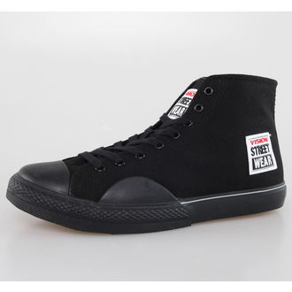 Herren Schuhe VISION - Canvas HI - Black/Black, VISION
