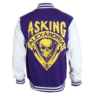 Herren Sweatjacke Asking Alexandria - Skull Shield - Purple - PLASTIC HEAD, PLASTIC HEAD, Asking Alexandria