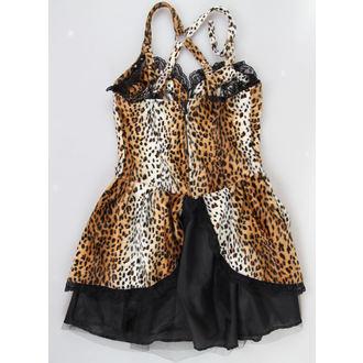 Damen Kleid  BLACK PISTOL - Punk - Leopard, BLACK PISTOL