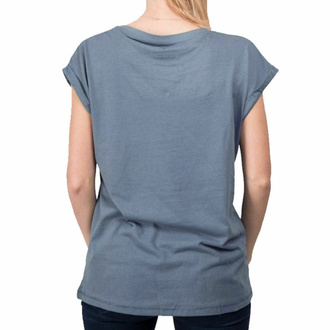 Damen T-Shirt BLACK HEART - ROCK N ROLL ROSE EXT - BLAU, BLACK HEART