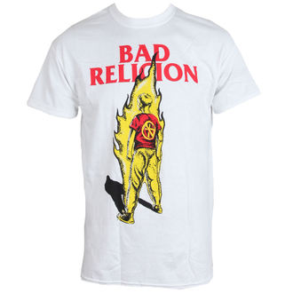 Herren T-Shirt BAD RELIGION - Flame - WEISS - LIVE NATION, LIVE NATION, Bad Religion