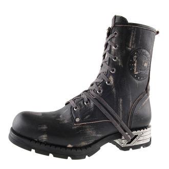Schuhe NEW ROCK - Motorosk Negro - Vintage Raspado - M.MR001-C4