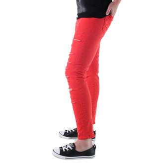 Damenhose  VANS - High Rise Back Zip Flame - Scarlet, VANS